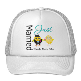 Just Married Happily Ever After Mesh Hat