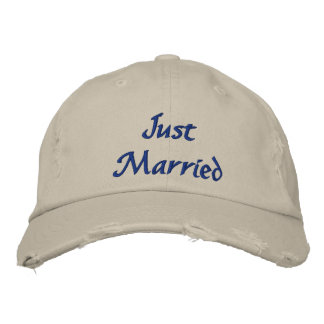 Just Married Hat Embroidered Baseball Cap