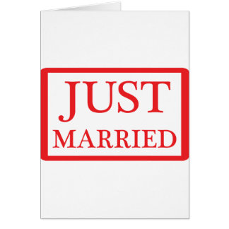 just married icon greeting card