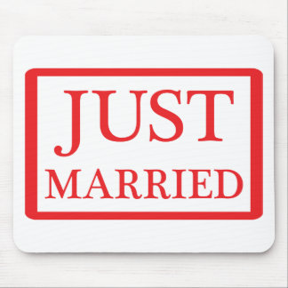 just married icon mouse pad