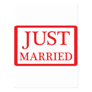 just married icon postcard