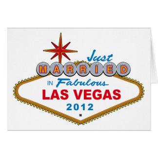 Just Married In Fabulous Las Vegas 2012 Vegas Sign Card