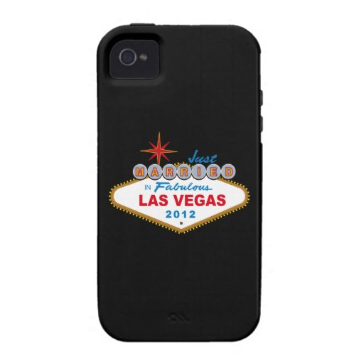 Just Married In Fabulous Las Vegas 2012 Vegas Sign iPhone 4 Covers