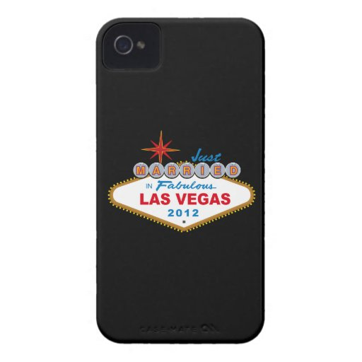 Just Married In Fabulous Las Vegas 2012 Vegas Sign Case-Mate iPhone 4 Cases