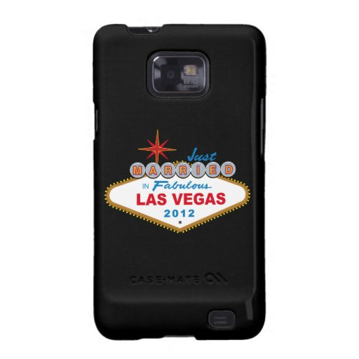 Just Married In Fabulous Las Vegas 2012 Vegas Sign Samsung Galaxy Covers