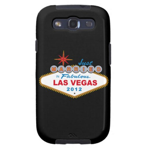 Just Married In Fabulous Las Vegas 2012 Vegas Sign Samsung Galaxy SIII Cover
