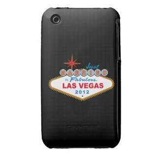 Just Married In Fabulous Las Vegas 2012 Vegas Sign Case-Mate iPhone 3 Cases