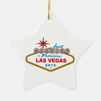 Just Married In Fabulous Las Vegas 2012 Vegas Sign Christmas Ornament