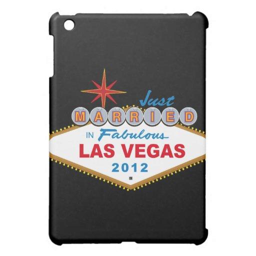 Just Married In Fabulous Las Vegas 2012 Vegas Sign iPad Mini Covers