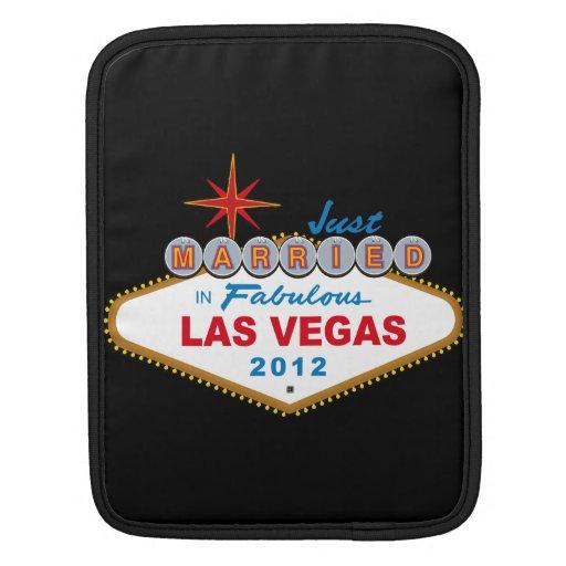 Just Married In Fabulous Las Vegas 2012 Vegas Sign iPad Sleeves