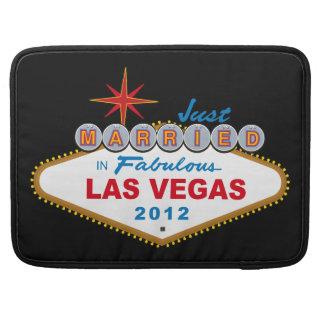 Just Married In Fabulous Las Vegas 2012 Vegas Sign MacBook Pro Sleeves