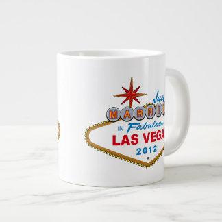 Just Married In Fabulous Las Vegas 2012 Vegas Sign 20 Oz Large Ceramic Coffee Mug