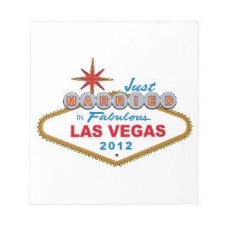 Just Married In Fabulous Las Vegas 2012 Vegas Sign Memo Pads