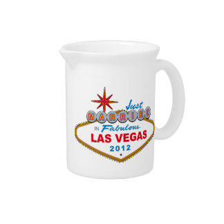 Just Married In Fabulous Las Vegas 2012 Vegas Sign Drink Pitcher