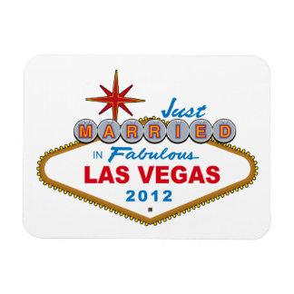 Just Married In Fabulous Las Vegas 2012 Vegas Sign Rectangular Photo Magnet