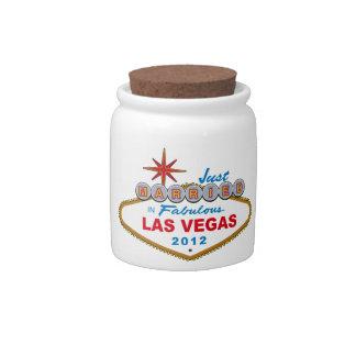 Just Married In Fabulous Las Vegas 2012 Vegas Sign Candy Jars