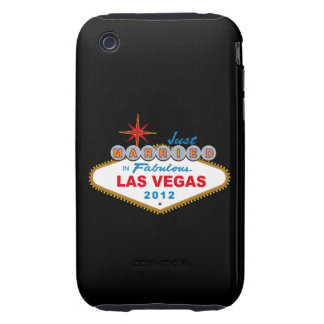 Just Married In Fabulous Las Vegas 2012 Vegas Sign Tough iPhone 3 Case