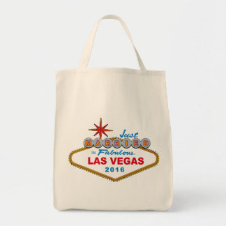 Just Married In Fabulous Las Vegas 2016 (Sign) Grocery Tote Bag