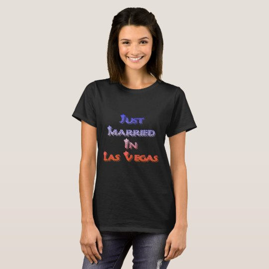 Just Married In Las Vegas Crown Style T-Shirt