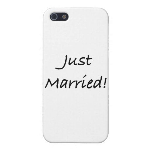 just married iPhone 5 cover