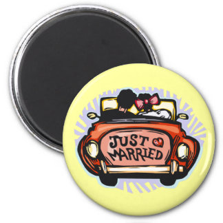Just Married Jalopy Refrigerator Magnets