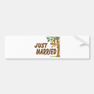Just Married Jungle Fever Bumper Sticker