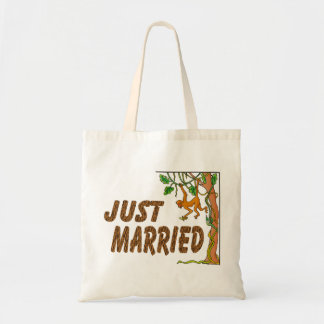 Just Married Jungle Fever Tote Bag