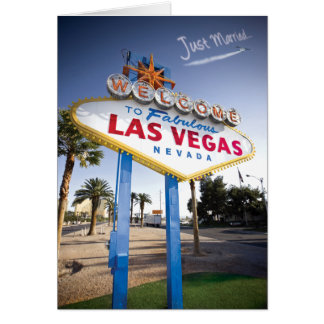 Just Married Las Vegas Card
