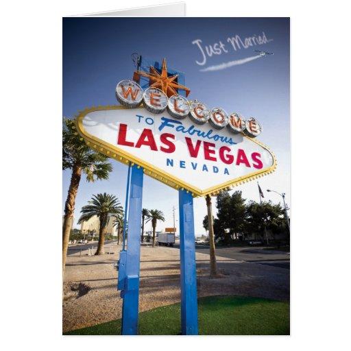 Just Married Las Vegas Cards