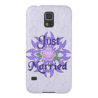 Just Married Lavender Rose Galaxy S5 Case