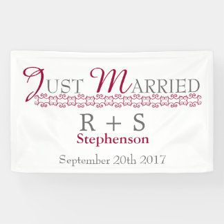 Just Married Modern Banner