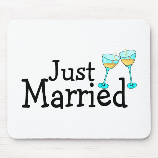 Just Married Mousepads