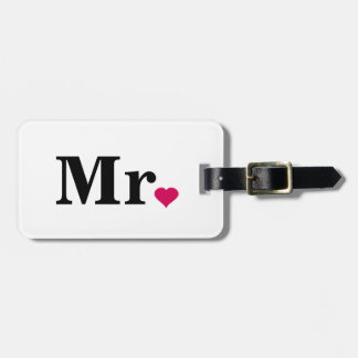 Just married Mr and Mrs luggage tag for him