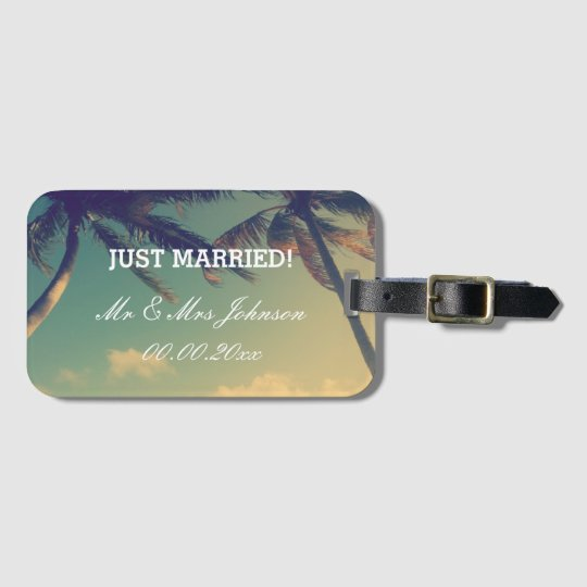Just Married mr & mrs luggage tags for