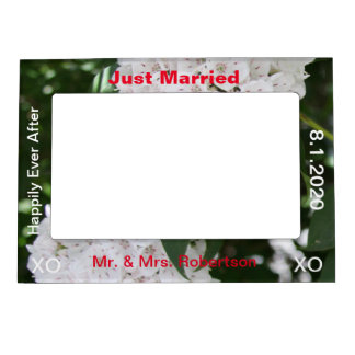 Just Married Mr. & Mrs. White Mountain Laurel Magnetic Frame
