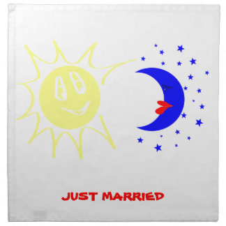 Just married napkin