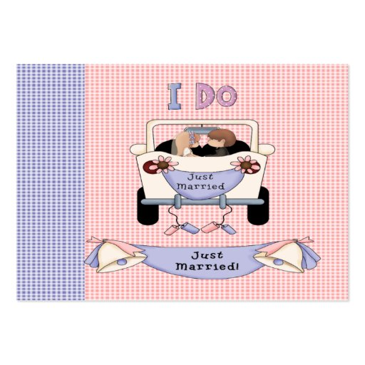 Just Married Pack Of Chubby Business Cards
