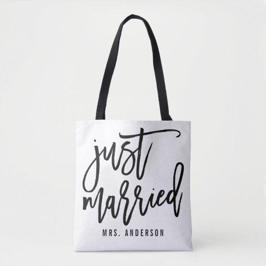 Just Married Personalised Honeymoon Tote Bag