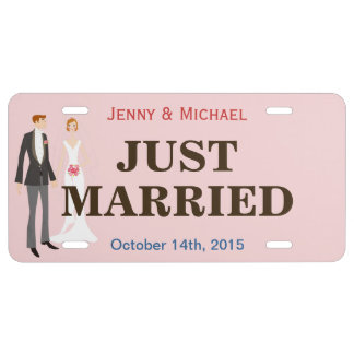 Just Married - Personalized Bride and Groom License Plate