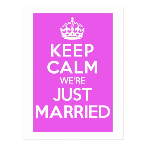 Just Married Pink Post Cards