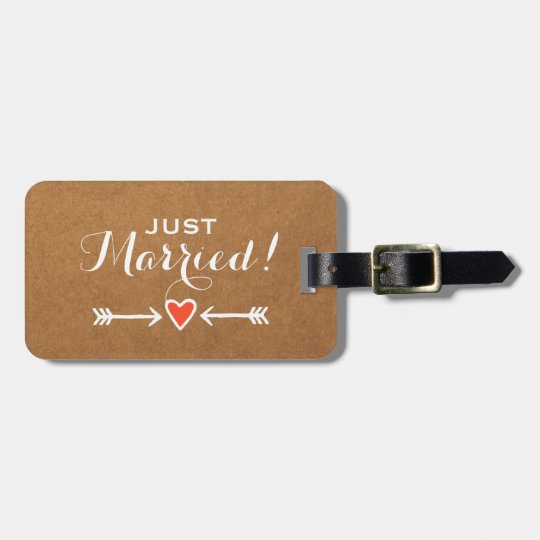 Just Married! - Pink Sweethearts & Arrows White