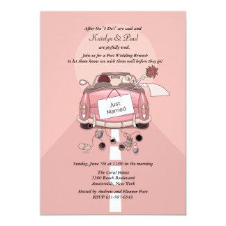 "Just Married Post Wedding Brunch Invitation 5"" X 7"" Invitation Card"