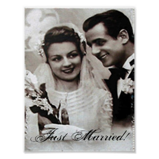 """""""Just Married"""" Poster"""