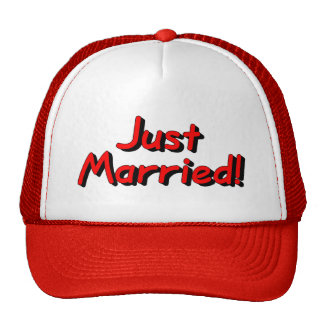 Just Married (Red) Cap