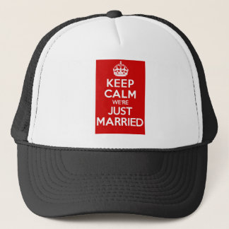 Just Married Red Trucker Hat