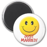Just Married Refrigerator Magnet