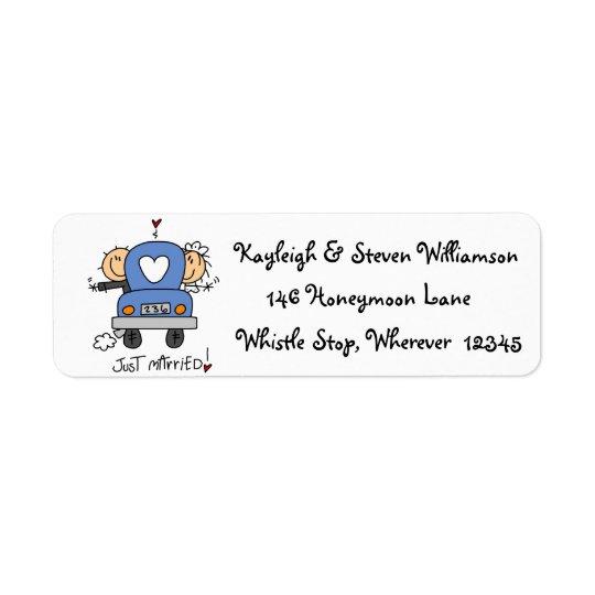 Just Married Return Address Label