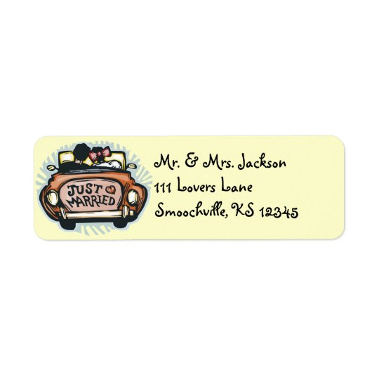 Just Married Return Address Labels