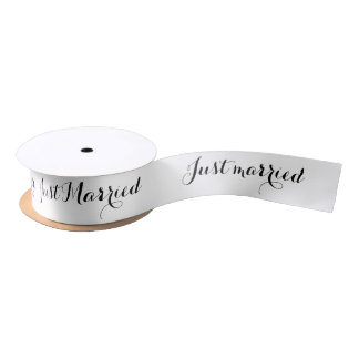 Just Married Satin Ribbon