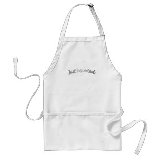 Just Married-Silver Standard Apron